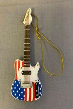 U.S. FLAG ELECTRIC GUITAR MUSICAL INSTRUMENT ORNAMENT 4