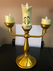 Disney Parks Beauty & Beast LUMIERE Light Up Candelabra Candle Statue Figure