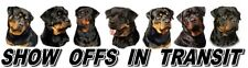 Rottweiler Show Off Dog Car Sticker By Starprint