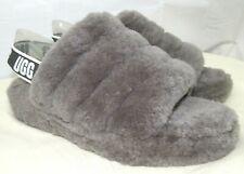 UGG Australia 1095119 Fluff Yeah Slide Slipper for Women, Size 10 - Charcoal