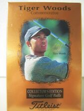 Rare Titleist Commemorative Tiger Woods Collector's Edition Signature Golf Balls