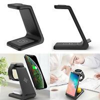 3in1 Qi Wireless Charger Ladegerät Ladestation für iWatch iPhone 11 Pro Samsung
