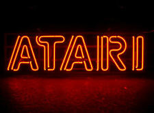 Framed Print - Classic Red Neon ATARI Sign (Picture Poster Retro Arcade Gaming)