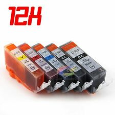 12x Ink Cartridges PGI525 BK CLI526 for Canon Pixma MG6100 MG6150 MG6250 MG5150