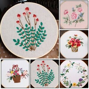 Simple Embroidery Kit 30*30cm Tool DIY Replacement Crafts Cross Stitch