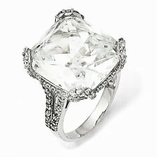 Cheryl M Sterling Silver Cubic Zirconia Ring Size 8 #843