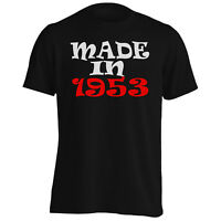 MADE IN 1953 Funny Novelty New Men's T-Shirt/Tank Top i97m