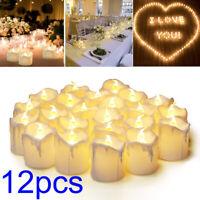 12pcs Flameless Candle Light LED Tealight Lamp Wedding Birthday Party Decoration