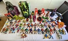 HUGE vintage he man masters of the universe lot With Figures, Vehicles And Build