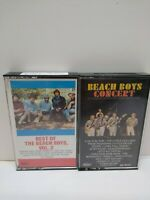 Lot of 2! -THE BEACH BOYS Cassette tapes. beach boys concert and best of vol 2