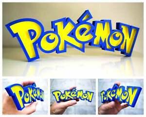 Pokemon inspired  3D logo / shelf display / fridge magnet - gaming collectible