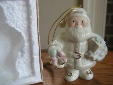 Lenox Ornament Santa Rings in the Holidays 2002