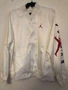 Air Jordan Jumpman Stadium Jacket Bomber White AO0444-100 Sz L