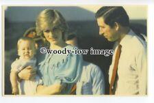 r1431 - Princess Diana , Princes Charles & William at Alice Springs - postcard