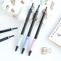 2/4/5X Cute Kawaii Cat Gel Ink Roller Ball Point Pen Korean Gift School