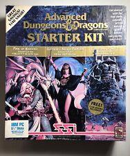"""Vintage Advanced Dungeons And Dragons 1992 IBM 5 1/4"""" Starter Kit Big Box Game"""