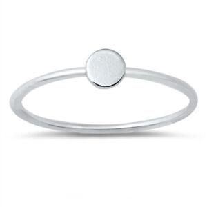 Minimal Style 925 Sterling Silver Dot Circle Stacking Stacker Ring J L N P R T