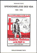 Spendenbelege des VDA 1925-1945 (Tieste), neu