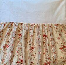 Ralph Lauren American Living Hillsborough Floral Stripe Queen Bedskirt 15� Drop