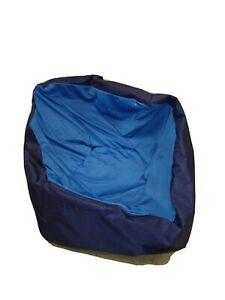 Big Joe Slalom Bean Bag Chair Blue Sapphire Spandex/ Navy Smartmax Megahh Refill