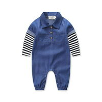 Toddler Infant Baby Boys Denim Romper Jumpsuit Bodysuit Outfits Clothes Playsuit