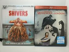 Shivers (New) & An American Werewolf in London (Blu-ray+Slip Cover, Like-New)