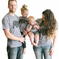 Couple T-Shirt DADDY MOMMY KID BABY Matching Shirts Family Clothes Tee Tops