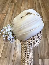 Vintage Christian Dior Chapeaux TURBAN Hat Floral Millinery 1960s
