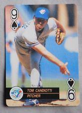 1992 MLB Playing Card Nine Of Spades Tom Candiotti Blue Jays