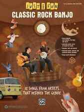 "JUST FOR FUN ""CLASSIC ROCK BANJO""-EASY BANJO-TAB MUSIC BOOK BRAND NEW ON SALE!!"