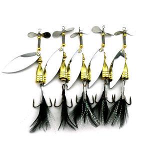 5PCS Spinnerbaits Spoon Bait 9cm/11.6g Metal Crankbait Fishing Lures Blade Bass