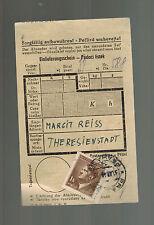 1944 Theresienstadt Concentration Camp Ghetto Money Order receipt Margit Reiss
