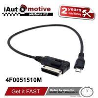 Audi + VW Micro USB AMI MMI Audio Cable Adaptor Interface Lead Samsung LG HTC