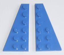 JEU JOUET ENFANT  LEGO * Lot 2 BRIQUES PLATES AILES  2 X 6 - BLEU  *