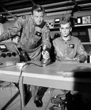 OLD CBS TV RADIO PHOTO Men Into Space TV show William Lundigan & John Milford 2