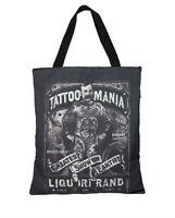 Liquor Brand Damen TATTOO MANIA Einkaufstasche.Tattoo,Biker,Pin up,Custom Style