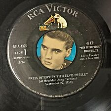 PRESS INTERVIEW WITH ELVIS PRESLEY 9/22/58 EPA 4325 (DISC ONLY) VG+/VG+ Z10