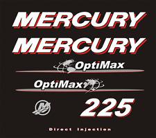 Adesivi motore marino fuoribordo Mercury 225 hp optimax world mondo