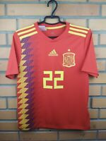 Spain Jersey 2018 2019 Home Youth 13-14 Shirt BR2713 Soccer Football Adidas