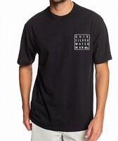 Quiksilver Mens Shirt Black Size 2XL Graphic Bay Tee Short Sleeve $26 #203