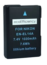 ecoEfficiency EN-EL14, EN-EL14A Battery for Nikon D3100, D3200, D3300, D3400