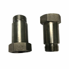 Two(2) M18*1.5 Thread Catalytic Oxygen O2 Sensor Spacer Adapter