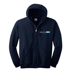 Holby City/Casualty Replica NHS Trust NAVY EMBROIDERED BADGE Hoodie clothing