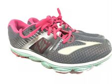 Brooks Pure Cadence 4 Womens Running Shoes Size 11 Medium Gray Pink Teal