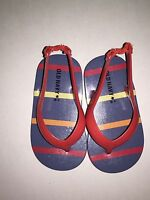 OLD NAVY Toddler Boys Thong Sandals Shoes RED/STRIPE Size 5 Summer Beach NEW