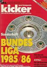 Magazin kicker Sonderheft - Bundesliga 1985/1986,85/86,1.+2. Liga,Stecktabelle