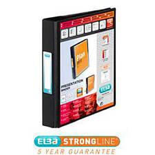 Elba Vision Ring Binder PVC Clear Front Pocket 2 O-Ring Size 25mm A5 Black