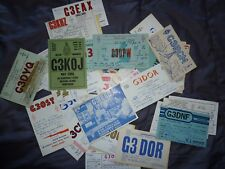Joblot x50 Amateur Ham Radio QSL cards from Uk England mostly from 1960s lot3