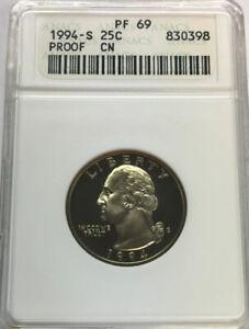 1994-S Washington Quarter Proof PF69 ENN COINS