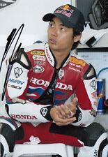HIROSHI Aoyama mano firmato 2012 HONDA 7x5 FOTO WSBK 6.